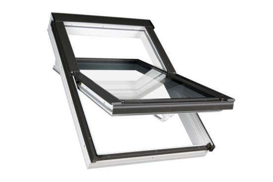 FAKRO Kunststoff-Schwingfenster PTP U3 mit Eindeckrahmen