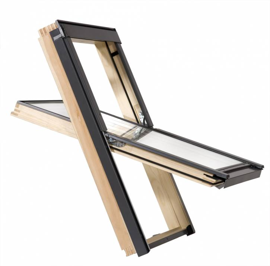 Dachschwingfenster Rooflite Core aus Holz mit Eindeckrahmen