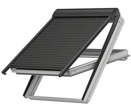 """Velux Sparpaket """"SunProtect"""" - Dachfenster Kunststoff mit Eindeckrahmen und Elektro Rollladen SML + KUX"""