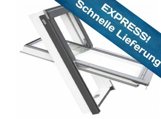 Balio Dachfenster APB aus Kunststoff incl. Universal - Eindeckrahmen 0-50mm