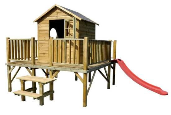 baumotte spielhaus holz kinderspielhaus ernie mit rutsche spielhaus holz kinderspielhaus. Black Bedroom Furniture Sets. Home Design Ideas