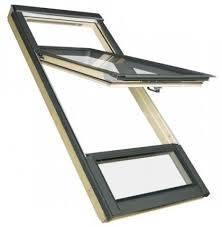 FAKRO Hoch-Schwingfenster Holz FDY-V U3 Duet pro Sky mit Eindeckrahmen