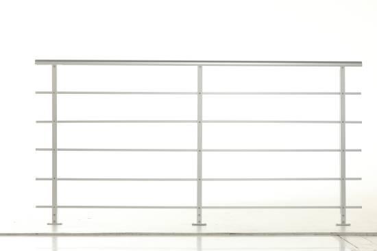 Geländer-Set PAB 80 - für Bodenmontage Starterset aus Aluminium für Treppen und Balkon (Innen und Außen)
