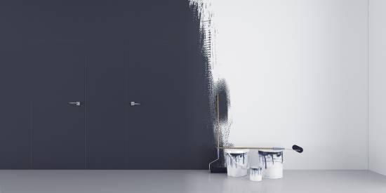 Zimmertüren mit unsichtbaren Zargen 'DMB SET' Grundiert - Tapetentüren inkl. Zarge