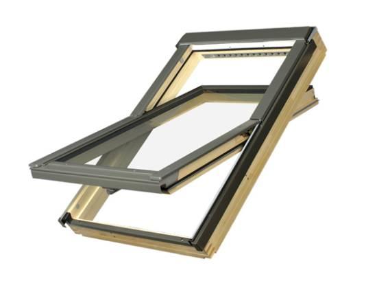 FAKRO FTP - Schwingfenster Holz FTP-V U3 mit Eindeckrahmen