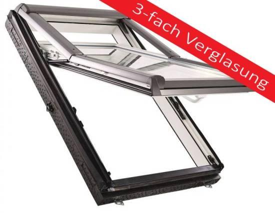 Handwerk - Roto Designo R79 K WD 3fach Verglasung Hoch-Schwingfenster aus Kunststoff mit Wärmedämmung und Eindeckrahmen