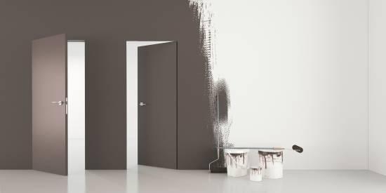 Rahmenloses Türsystem DMBSET Grundiert  - Zimmertür inkl. Zarge