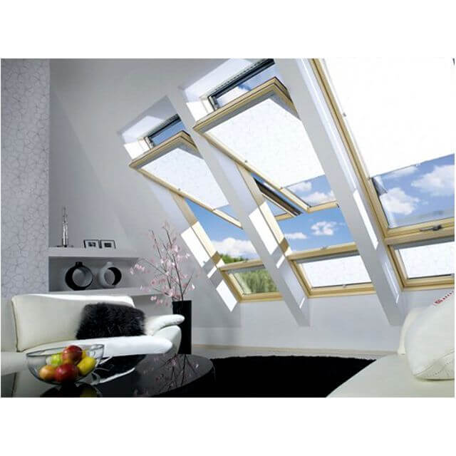 fakro hoch schwingfenster holz fdy v u3 duet pro sky mit eindeckrahmen. Black Bedroom Furniture Sets. Home Design Ideas