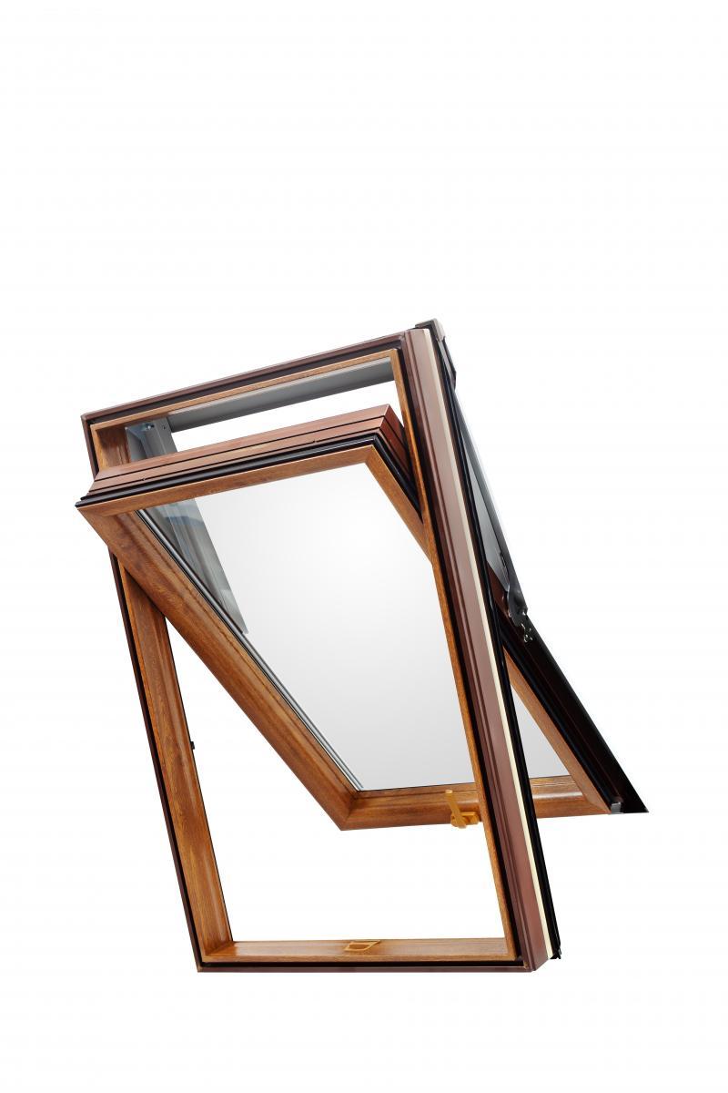 Skylight Premium Dachfenster mit Dauerl/üftung PVC 78 x 98 mit Eindeckrahmen