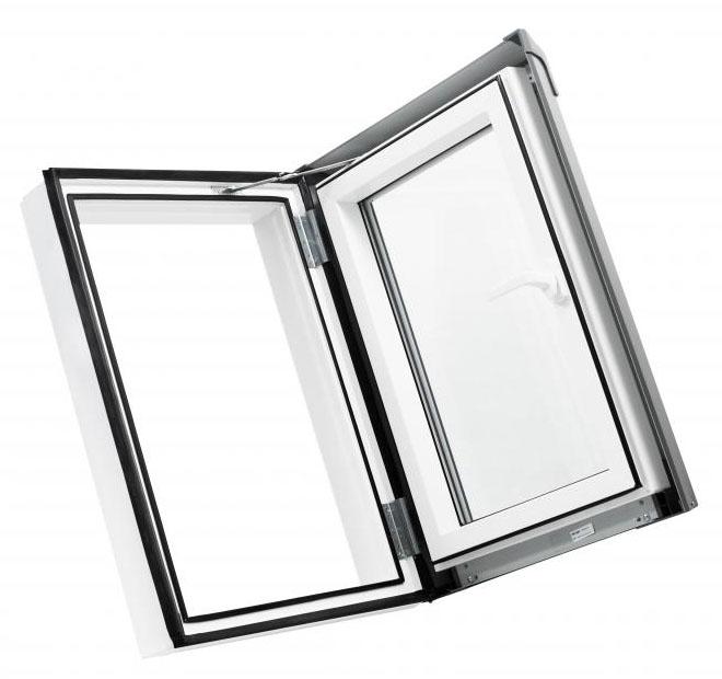 Skylight Kunststoff Dachfenster PVC 55 x 78 mit Eindeckrahmen