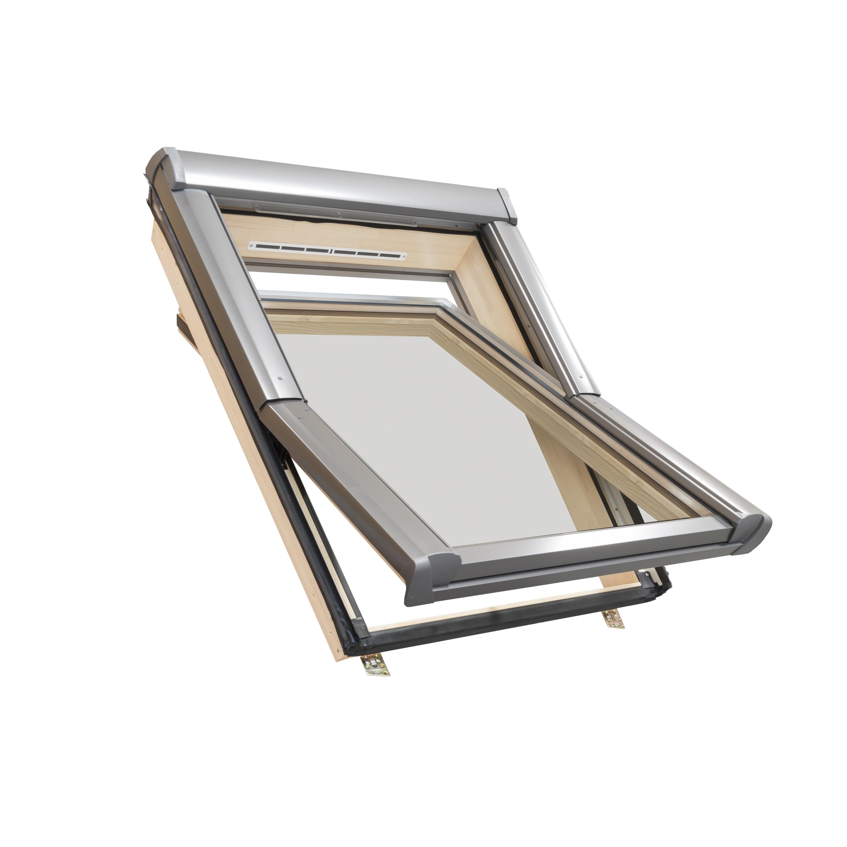 roto dachfenster aus holz mit eindeckrahmen. Black Bedroom Furniture Sets. Home Design Ideas