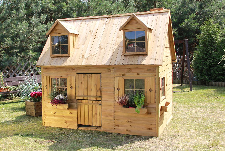 baumotte spielhaus holz kinderspielhaus rotk ppchen. Black Bedroom Furniture Sets. Home Design Ideas