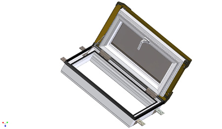 Afg kunststoff pvc skylight premium loft dachausstieg - Dachfenster mit ausstieg ...
