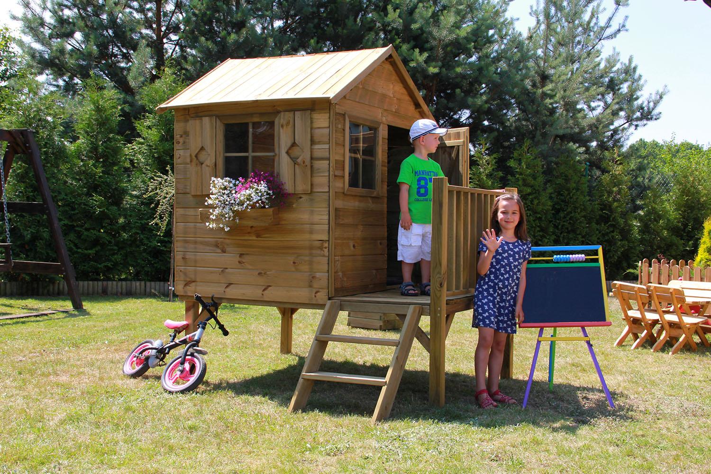 baumotte spielhaus holz kinderspielhaus donatello. Black Bedroom Furniture Sets. Home Design Ideas