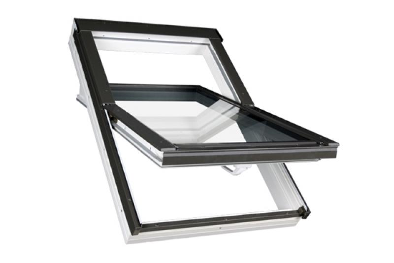 Dachfenster von Fakro FAKRO Kunststoff-Schwingfenster PTP U3 mit Eindeckrahmen