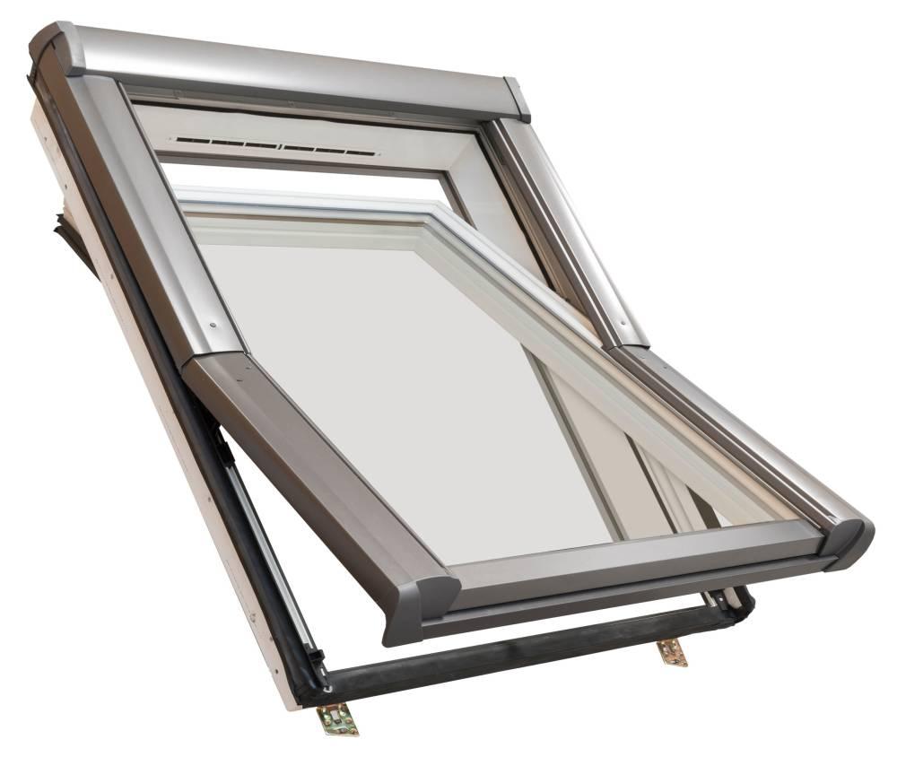 Balio Dachfenster APB aus Kunststoff incl 78 x 112 Universal Eindeckrahmen 0-50mm