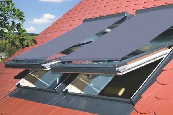 Dachfenster von Fakro FAKRO AMZ I Netzmarkise aus Stoff