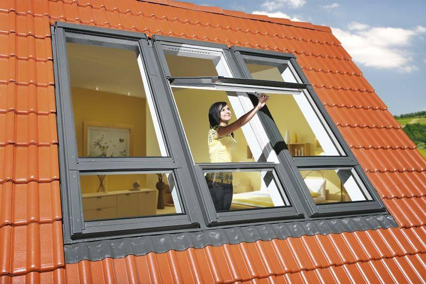 Dachfenster von Fakro FAKRO Dachfenster Holz FDY-V/U U3 Duet pro Sky weiß lackiert mit Polyurethan Schicht