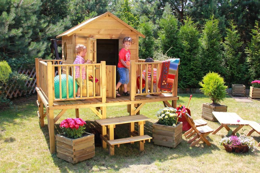 """Kinderspielhaus Stelzenhaus Aus Holz Mit Rutsche ~   mit Rutsche Spielhaus Holz  Kinderspielhaus """"Ernie"""" mit Rutsche"""