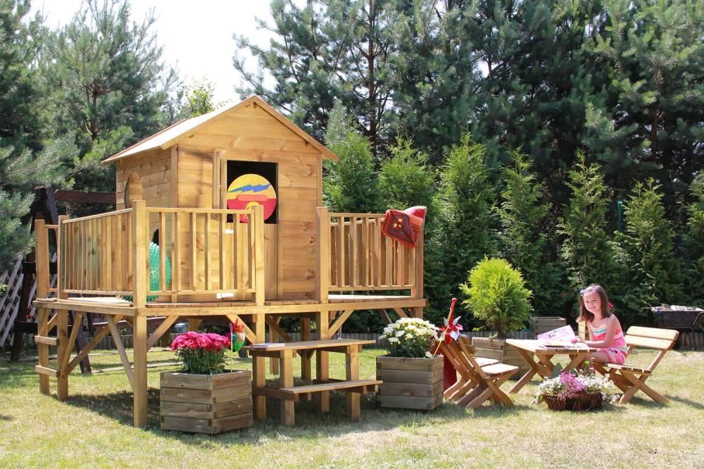 """baumotte spielhaus holz - kinderspielhaus """"ernie"""" mit rutsche, Schlafzimmer design"""