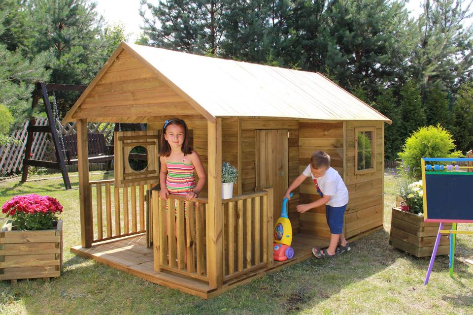 Kinderspielhaus Holz Robinie ~ preview