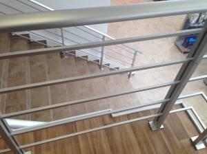 Geländer-Set PAB 91 - für seitliche Montage Ergänzungsset aus Aluminium für Treppen und Balkon (Innen und Außen)