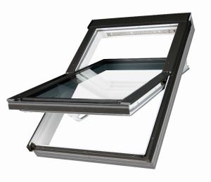 Dachfenster aus Kunststoff Fakro PTP-V U5 mit Dauerlüftung und Eindeckrahmen - Uw: 0,95 W/m²K