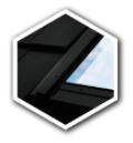 FAKRO Schwingfenster 3fach Verglasung Uw=1,0 PTP-V-U4 Aussenfarbe Schwarz inkl. Thermo Eindeckrahmen EHV-AT