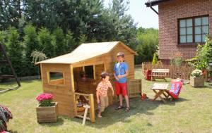 "Baumotte Spielhaus Holz - Kinderspielhaus ""Heidi"""