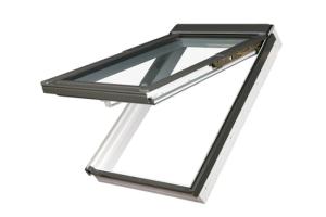 FAKRO Klapp-Schwingfenster PPP-V U5 preSelect® Dachfenster aus Kunststoff und Eindeckrahmen