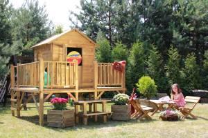 """Baumotte Spielhaus Holz - Kinderspielhaus """"Ernie"""""""