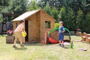 "Baumotte Spielhaus Holz - Kinderspielhaus ""Aladin"""