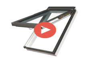 Klapp-Schwing-Fenster FAKRO PPP-V U3 aus Kunststoff mit Dauerlüftung V35 und Eindeckrahmen