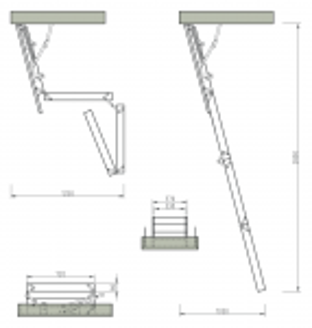 RADEX Bodentreppe Extra Holz